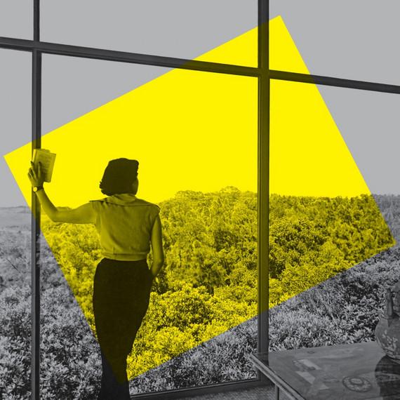 Key Visual der Ausstellung »Home Stories«, Illustration: Daniel Streat, Visual Fields, © Vitra Design Museum; Lina Bo Bardi, Casa de Vidro, São Paulo, 1952, © Instituto Bardi / Foto: Francisco Albuquerque