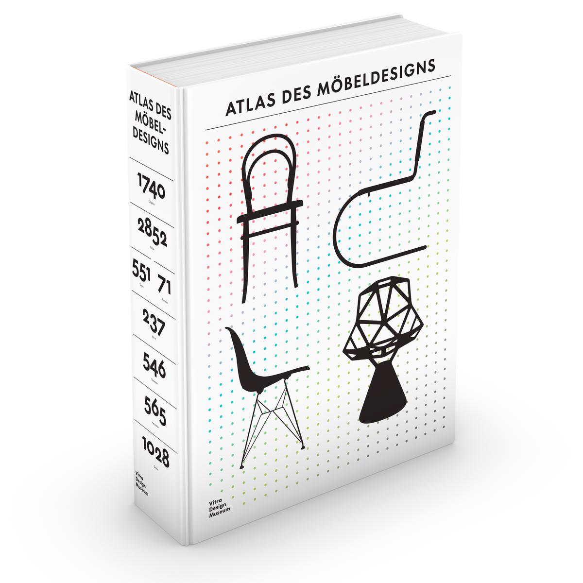 3D-Cover »Atlas des Möbeldesigns« © Vitra Design Museum, Grafik: Kobi Benezri Studio