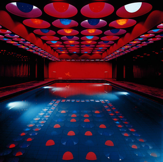 Verner Panton, Swimming pool, Spiegel publishing house (Hamburg), 1969 © Panton Design, Basel