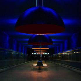 Ingo Maurer, Lichtkonzept für die U-Bahnstation Westfriedhof, München, 1998 © Ingo Maurer GmbH München, Foto: Markus Tollhopf