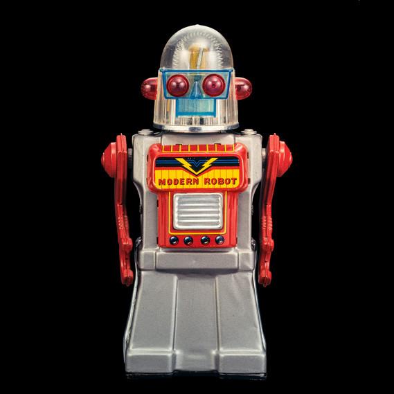Modern Cragstan Robot, Yonezawa, Japan, 1964, 27 cm, aus der Sammlung Rolf Fehlbaum, Foto / Photo: Moritz Herzog