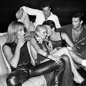Guests in Conversation on a Sofa, Studio 54, New York, 1979. © Bill Bernstein, David Hill Gallery, London
