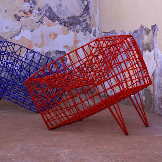 Cheick Diallo, »Fauteil Sansa bleu«, 2011, chair, © Cheick Diallo