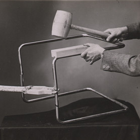 Photograph from an instruction manual for the usage of tools, Thonet brothers, 1935 , Collection Alexander von Vegesack, Domaine de Boisbuchet, www.boisbuchet.org (photographer unknown)
