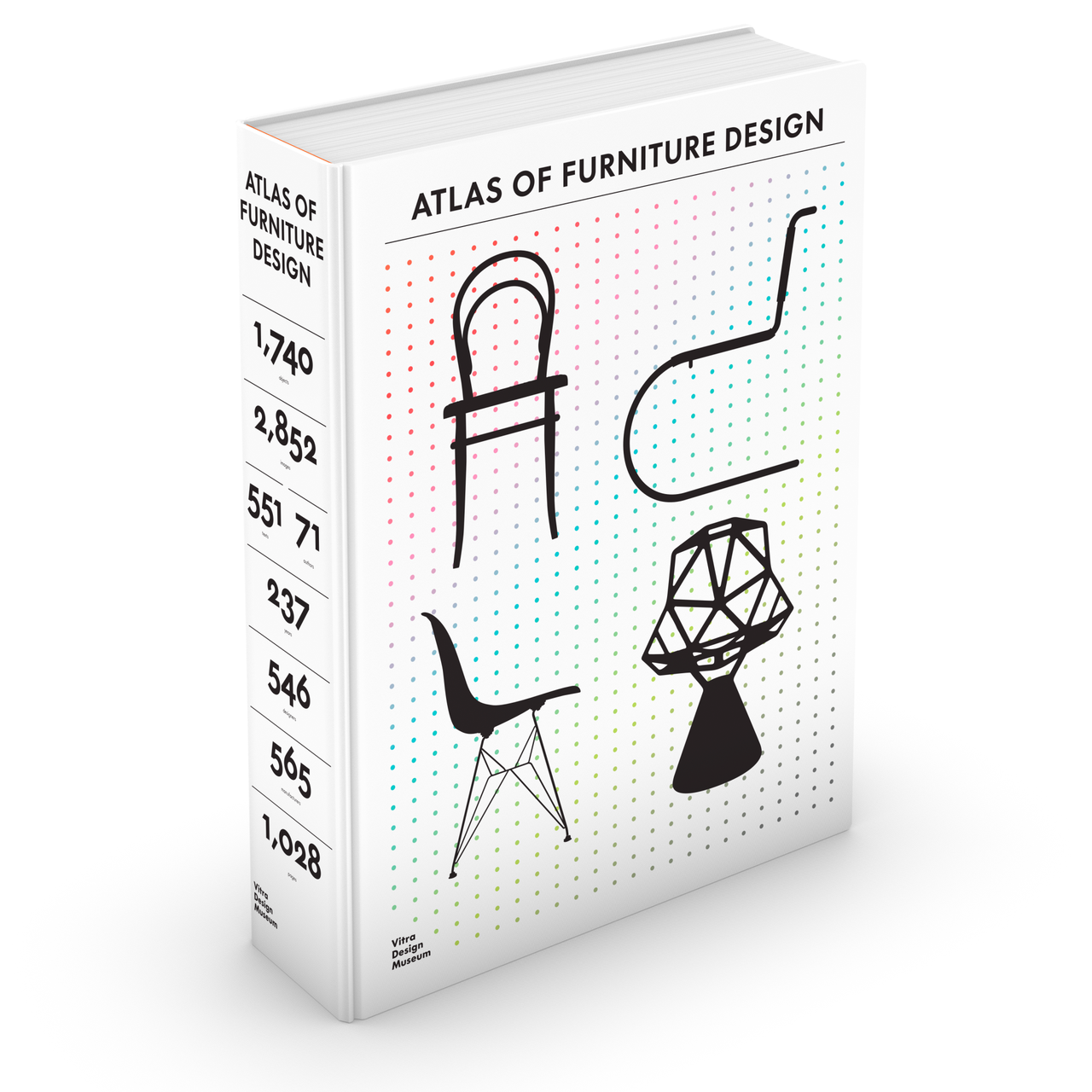 3D-Cover »Atlas of Furniture Design« © Vitra Design Museum, Graphic: Kobi Benezri Studio