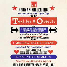 Herman Miller Textiles & Objects Shop, New York, USA, advertising poster, 1961, © Vitra Design Museum, Alexander Girard Estate (MAR-16786)