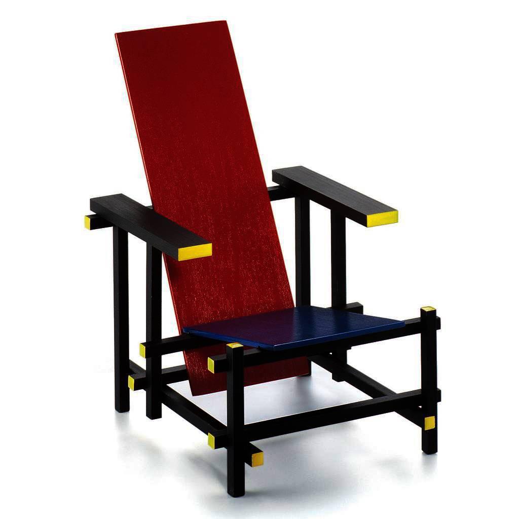 rot-blauer stuhl selbstgebaut!