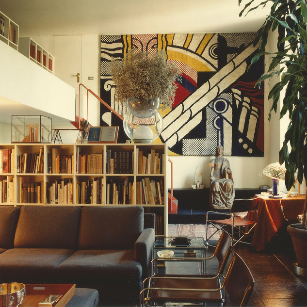 Gae Aulenti's apartment at Via Fiori Oscuri, Milan, 1993 Courtesy of Archivio Gae Aulenti, photo: © Santi Caleca
