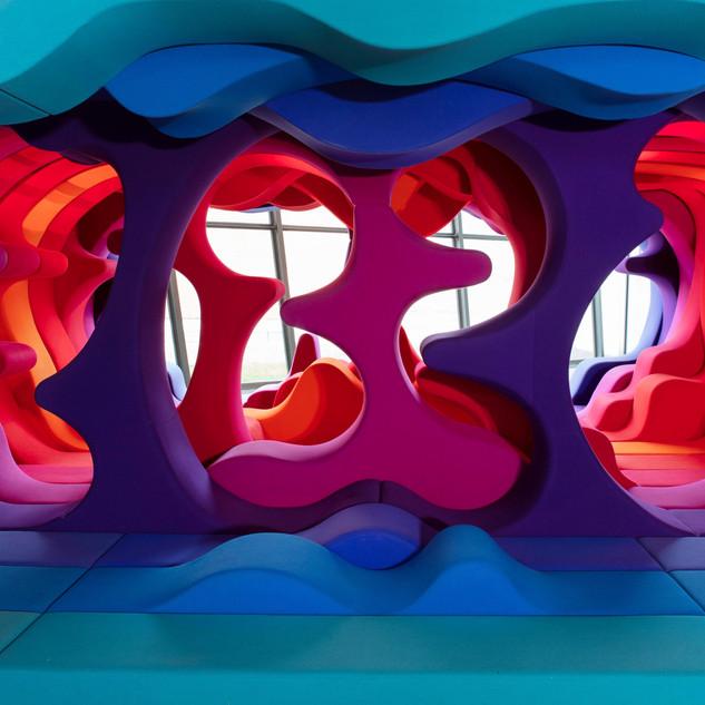 Verner Panton, Fantasy Landscape, Visiona 2, 1970; Teilrekonstruktion, Vitra Design Museum, 2000 © Verner Panton Design AG, Basel © Vitra Design Museum, Foto: Ludger Paffrath