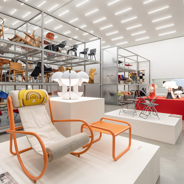 Installation view »Gae Aulenti: A Creative Universe«, Vitra Schaudepot © Vitra Design Museum, photo: Bettina Matthiessen