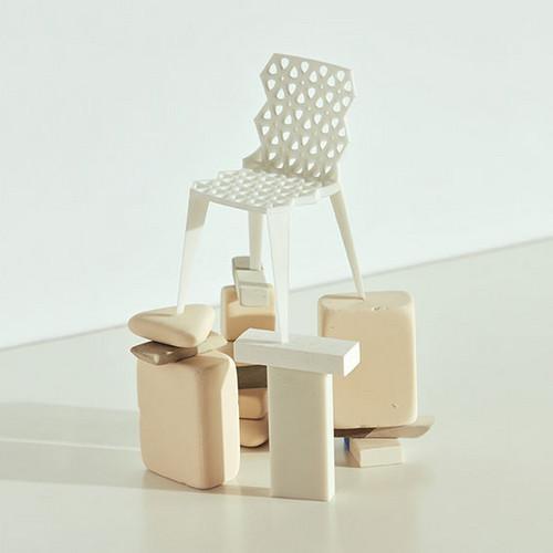 Sinterchair Oliver Vogt und Hermann Weizenegger © Vitra Design Museum, Foto: Nacho Alegre, 2018