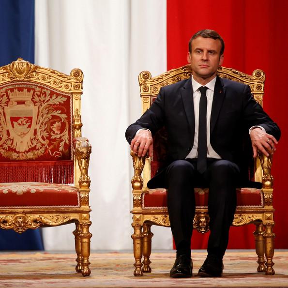 Emmanuel Macron nach seiner Amtseinführung 2017 © Getty, Foto: Charles Platiau