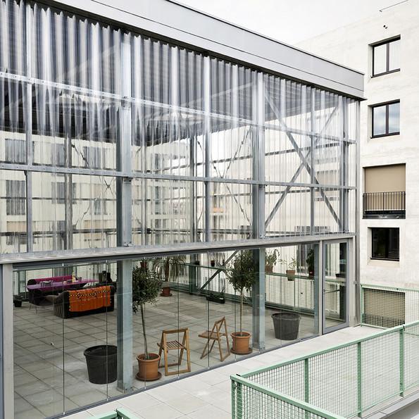 Gemeinschaftsraum im Haus J, Genossenschaft mehr als wohnen, Zürich, 2014. pool Architekten, Zürich, Foto: Niklaus Spoerri