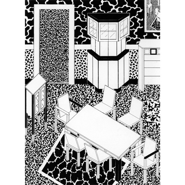 George Sowden, drawing of an interior, 1983 Vitra Design Museum © George Sowden