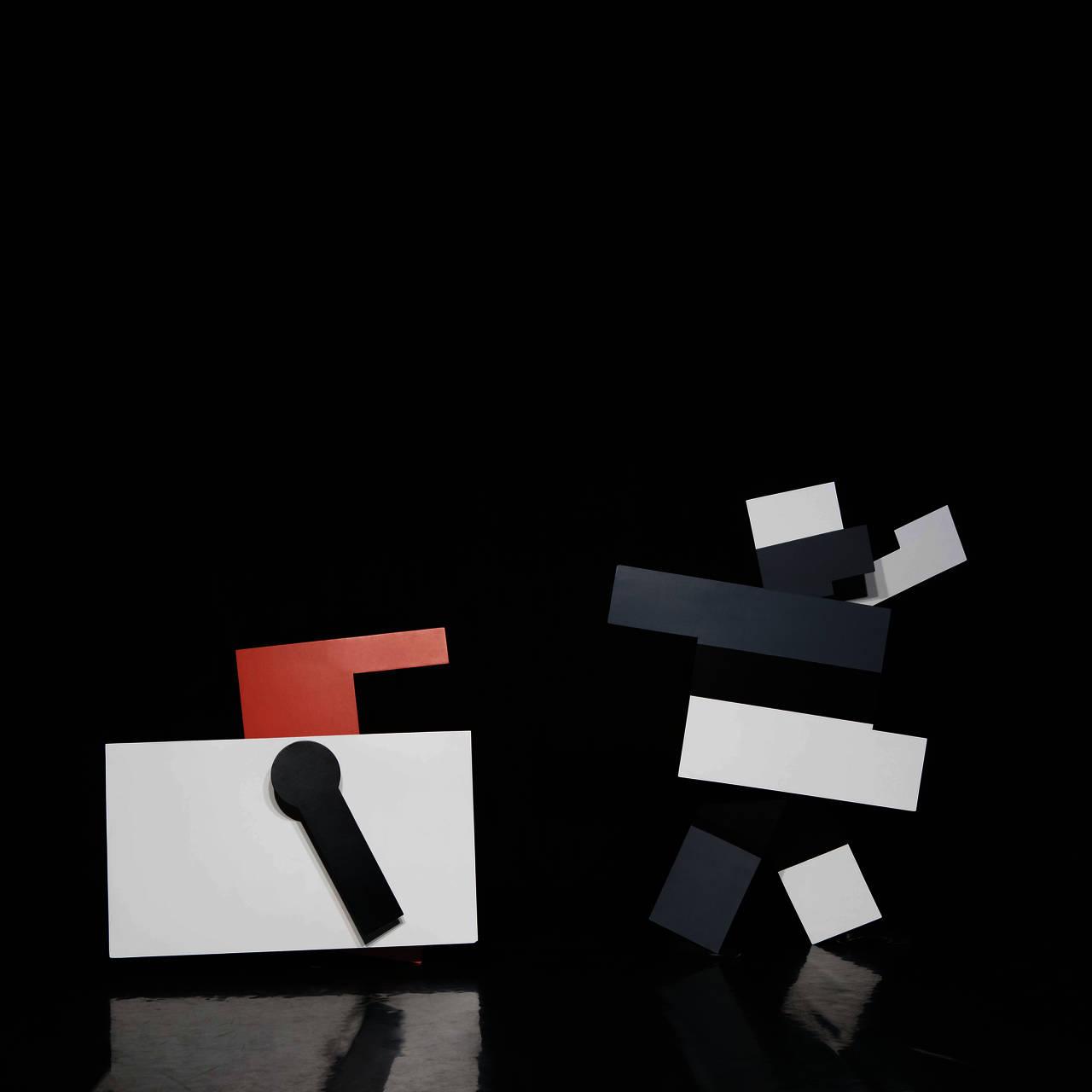 Key Visual der Ausstellung, Kurt Schmidt mit F.W. Bogler und G. Teltscher, »Das mechanische Ballett«, 1923, Neuinszenierung Theater der Klänge, 2009, Foto: O. Eltinger