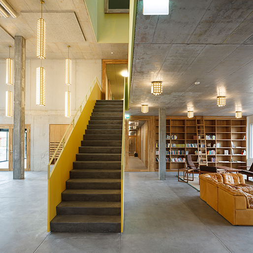 Bibliothek, Cooperative Kalkbreite, Zürich, 2014 Müller Sigrist Architekten © Müller Sigrist Architekten, Foto: Martin Stollenwerk