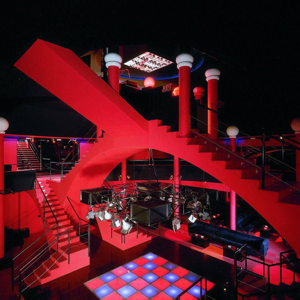 Diskothek Flash Back, Borgo San Dalmazzo, ca. 1972. Gestaltung: Studio65. © Paolo Mussat Sartor